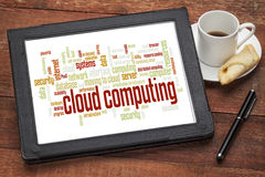 Cloud computing word cloud Stock Image