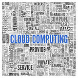 CLOUD COMPUTING Word Tag Cloud Design Stock Images