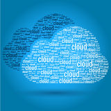 Cloud Computing Words Concept. On blue Background royalty free illustration