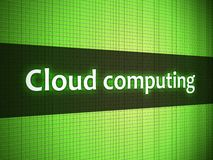 Cloud computing words on display Royalty Free Stock Images