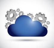 Cloud computing working illustration design Royalty Free Stock Image