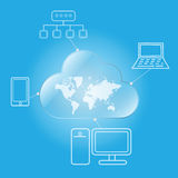 Cloud computing worldwide Stock Image