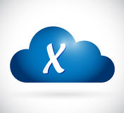 Cloud computing and x mark illustration design Stock Photography