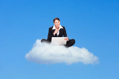 Cloud computing yes or no Royalty Free Stock Photo