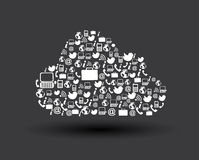 Cloud comunications icons Stock Photos
