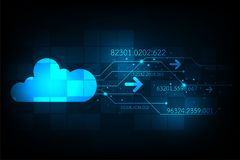Cloud in the concept of communication. Vector abstract background shows the innovation of technology and technology concepts Stock Photo