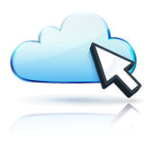 Cloud concept icon Royalty Free Stock Photo
