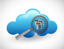 Cloud concept magnify data server Royalty Free Stock Photo
