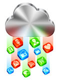 Cloud concept. Royalty Free Stock Images