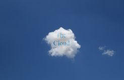 The Cloud concept Royalty Free Stock Images