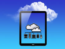 Cloud Concept. Tablet PC Royalty Free Stock Images