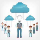 Cloud Concept. Vector EPS 10. Stock Photo