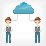 Cloud Concept. Vector EPS 10. Royalty Free Stock Images