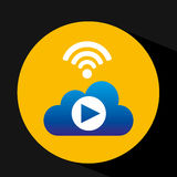 Cloud concept video play internet share graphic Royalty Free Stock Photos