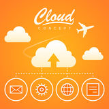 Cloud concept work optimization download Stock Photo