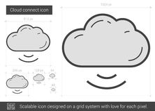 Cloud connect line icon. Stock Photos