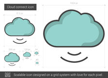 Cloud connect line icon. Royalty Free Stock Photography