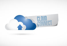Cloud connect message illustration design Royalty Free Stock Images