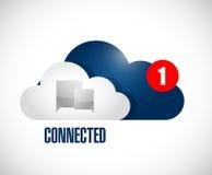 Cloud connected communication concept message. Stock Photo