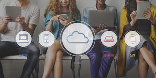Cloud Connection Communucation Networking Concept Stock Images