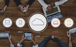 Cloud Connection Communucation Networking Concept Royalty Free Stock Image