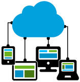 Cloud connection. Connection devices to the cloud Royalty Free Stock Image