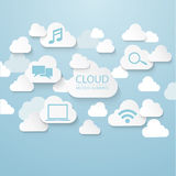 Cloud connection Royalty Free Stock Images