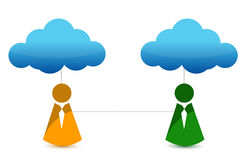 Cloud connection icon Royalty Free Stock Images