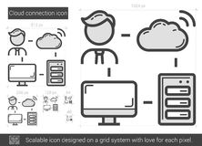 Cloud connection line icon. Royalty Free Stock Images