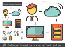 Cloud connection line icon. Stock Image