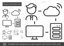 Cloud connection line icon. Royalty Free Stock Photos