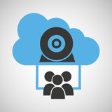 Cloud connection social media group camera web Stock Images
