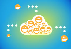 Cloud connection users Stock Images