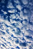Cloud Cover. Cloud blanket on blue sky Royalty Free Stock Photography