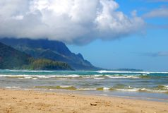 Cloud Cover at Hanalei Bay royalty free stock images