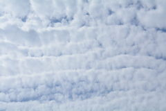 A cloud-covered sky texture Stock Photo