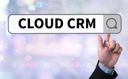 CLOUD CRM Stock Image