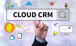 CLOUD CRM Royalty Free Stock Image