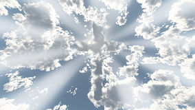 Cloud cross in sky Royalty Free Stock Images