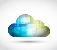 Cloud cubes and colors. illustration design Stock Photos