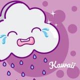 Cloud cute kawaii cartoon stock illustration