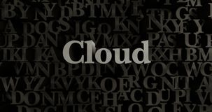 Cloud - 3D rendered metallic typeset headline illustration Royalty Free Stock Photo
