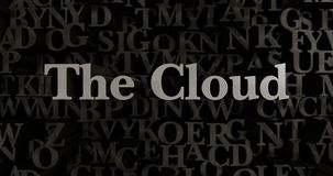 The Cloud - 3D rendered metallic typeset headline illustration Royalty Free Stock Images
