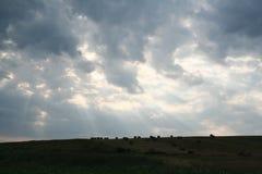 cloud dark Royaltyfria Bilder