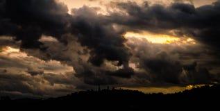 cloud dark Arkivfoto