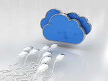 Cloud Data Royalty Free Stock Image