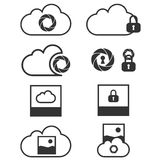 Cloud data backup icons Stock Photo