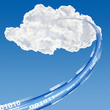 Cloud data base concept Stock Image