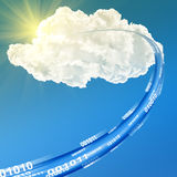 Cloud data base concept - illustration Royalty Free Stock Photo