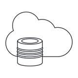 Cloud data base technology thin line Royalty Free Stock Image